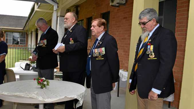 Members of Casino RSL sub-branch are Darryl Clifford, Owen Newell, president Jim Dean and Wayne Nowland.