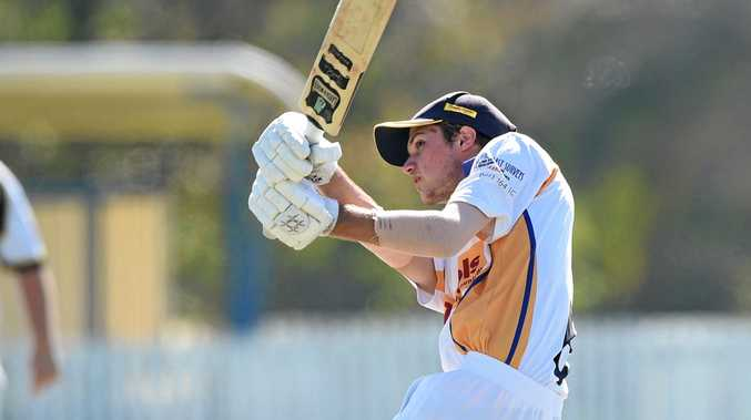 GUN: Nic Kelsey, pictured hitting his way to an impressive century a fortnight ago, will be unavailable for the Bushrangers today due to representative commitments.