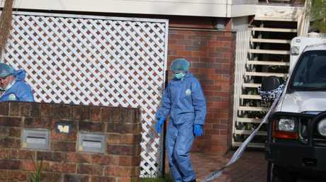 Police scour the Capalaba home today.