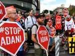 Protesters storm stage at leaders debate