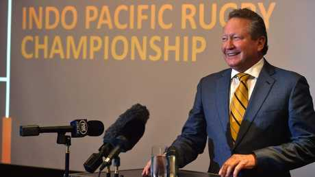 Andrew Forrest announces the launch of a new Asia Pacific rugby league in the wake of Western Force's controversial axing from Super Rugby.