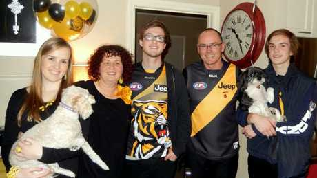 The family are avoid Tigers supporters but sadly Pat never saw them win. Supplied image