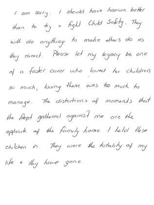 A letter written by Bonny.