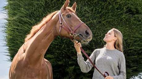 Francesca Cumani with Gailo Chop. Picture: Jake Nowakowski