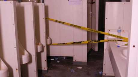 The filthy bathrooms from Manus. Water has been cut off. Picture: GetUp Australia