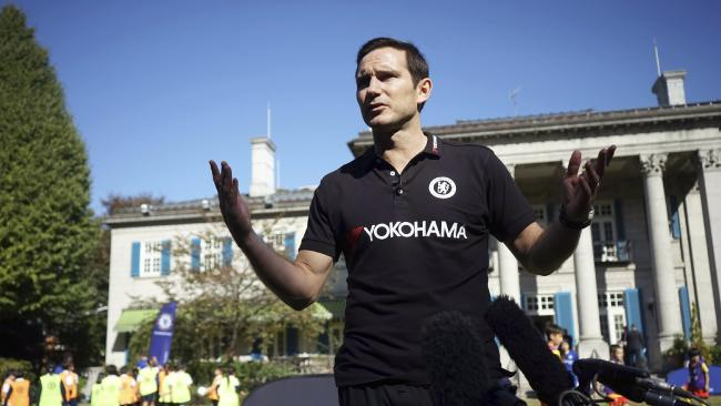 Derby manager Frank Lampard was less than impressed. Picture: AP