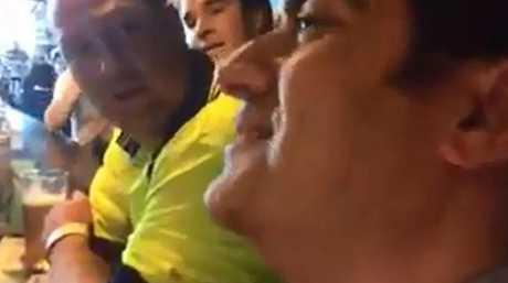 The men who ambushed Labor Senator Sam Dastyari at a Melbourne pub are in legal trouble. Picture: Facebook