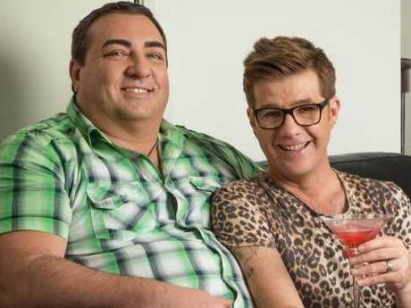 Love at first sight: Gogglebox stars Wayne and Tom. Picture: Gina Milicia/Foxtel