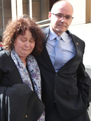 Patrick's parents Matt and Robyn Cronin leave the Melbourne Supreme Court.