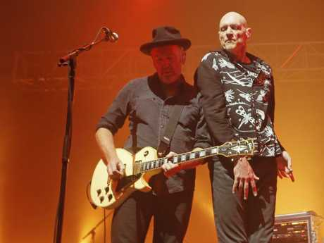Midnight Oil's Jim Moginie won't be busting any guitar moves during the Sydney gig at The Domain. Picture: PATRICK GEE