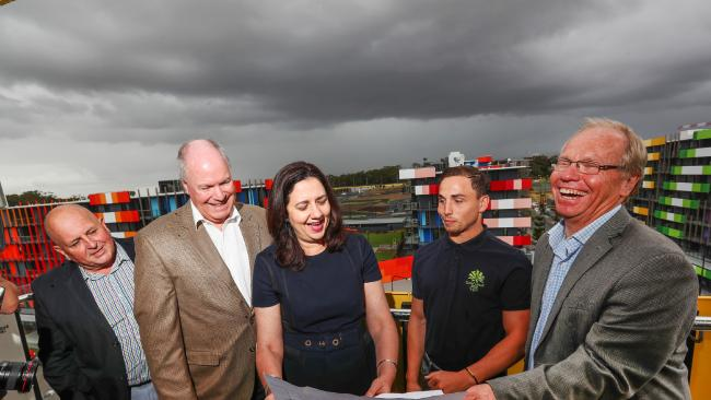 GOLDOC Chairman Peter Beattie AC and CEO Mark Peters will be joined by Glasgow 2014 Commonwealth Games diving gold medallist Domonic Beddgood and Premier Annastacia Palaszczuk. Picture: NIGEL HALLETT