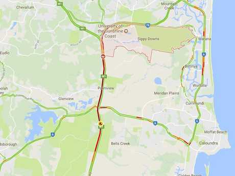 As of 3pm, the crash was causing a 30-minute delay for motorists travelling the Bruce Hwy.