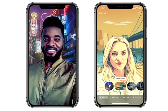 Selfie scenes adds a whole new dimension to iPhone X.