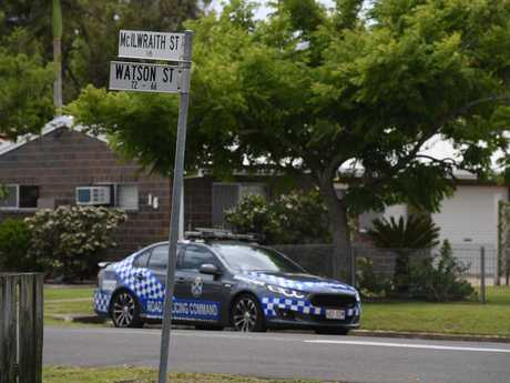 BUNDY SHOOTING: Police attend an incident at McIlwraith St in Bundaberg.