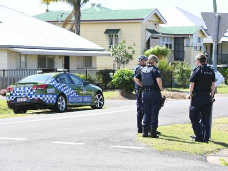 POLICE PRESENCE: McIlwraith St in Bundaberg has Scene of Crimes combing for evidence.