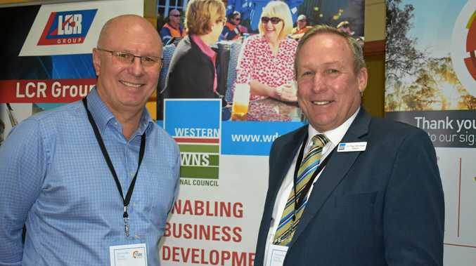 FUTURE: APA Group's Sam Pearce and WDRC Mayor Paul McVeigh at the Renewable Energy Roundup.