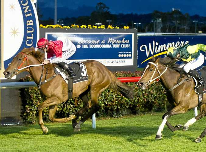 Message To Martha and apprentice Emma Ljung complete their victory over Red Mako in tonight's Three-Year-Old Maiden Handicap at Clifford Park.