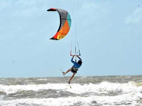 Liam Fulcher gets airborn at Harbour Beach