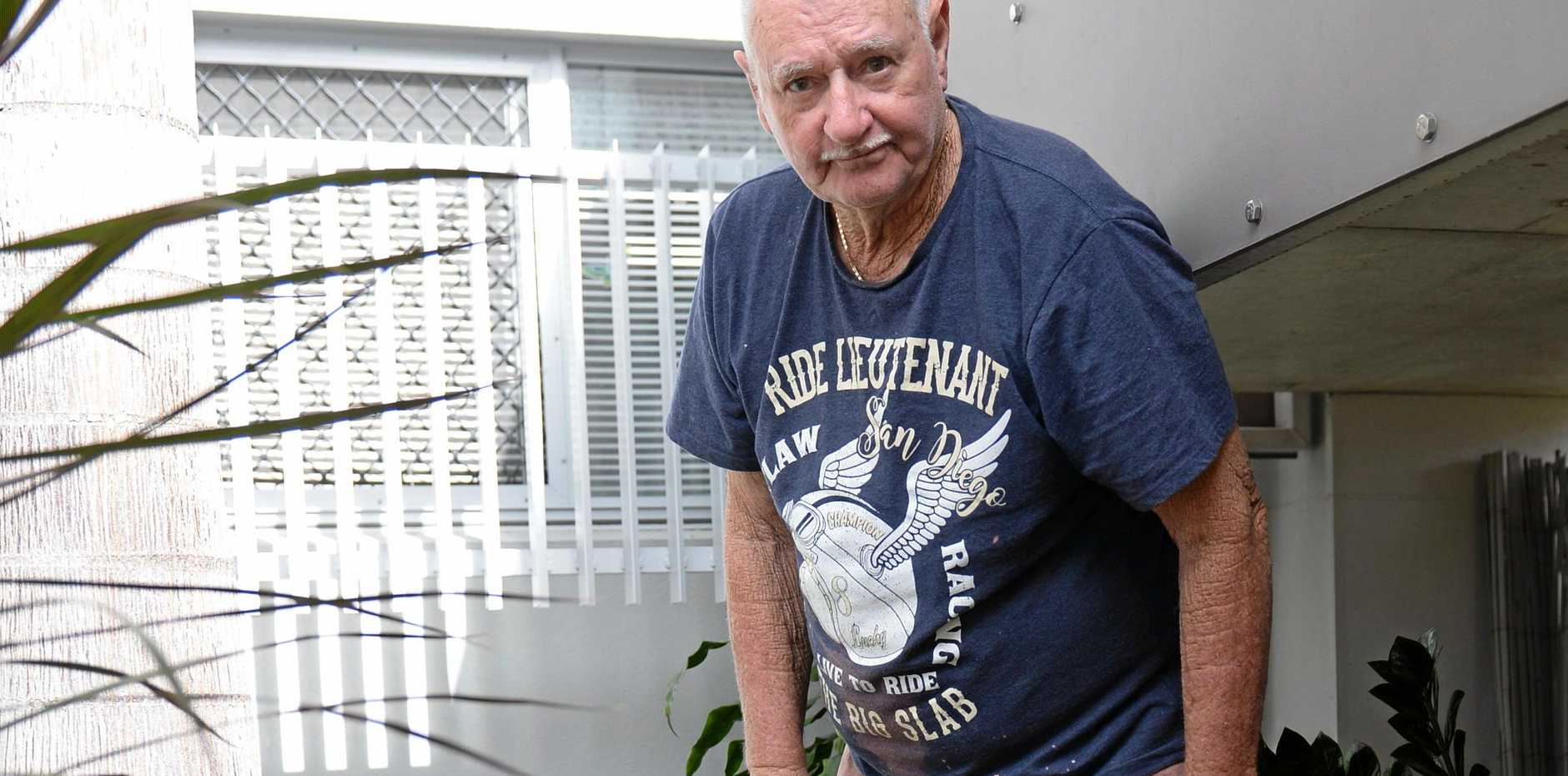 Morris Spinks is gutted after a number of his pot plants were stolen.