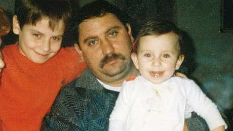 Jelena Dokic with her father Damir and brother Savo as children.