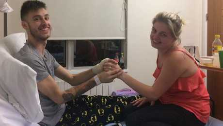 Jack proposed to Emma from his hospital bed.
