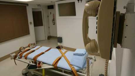 Convicted killer Patrick Hannon was put to death by lethal injection on this bed, Wednesday.