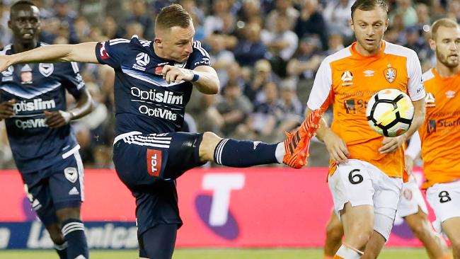 Besart Berisha scored in his return from suspension. Picture: Getty