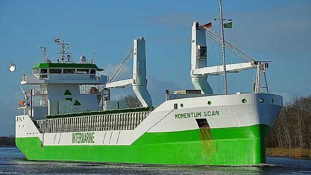 The cargo ship Momentum Scan. Picture: @Nils Junge/MarineTraffic.com