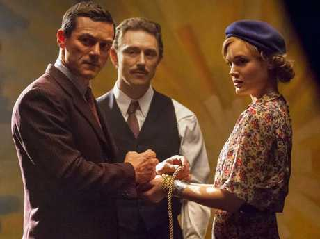 Luke Evans (left) plays Wonder Woman's creator in Professor Marston and the Wonder Women.