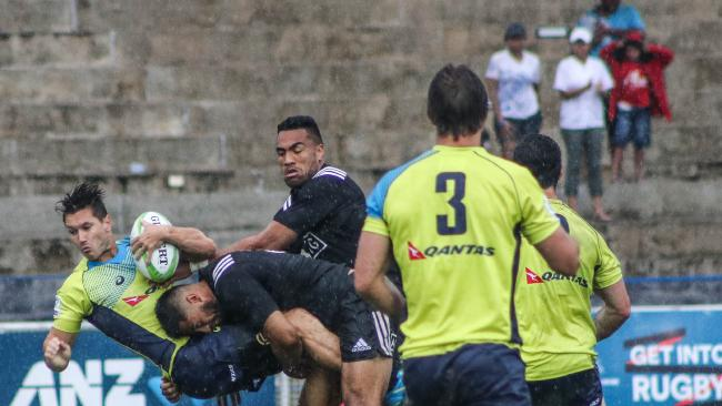 New Zealand beat Australia in the men's. Photo: Oceania Rugby