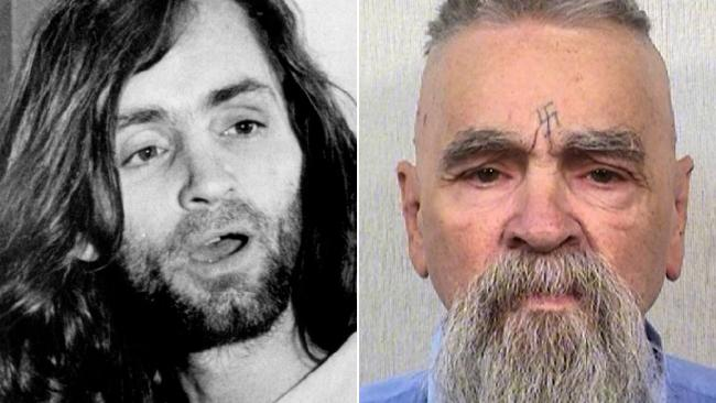 Mass murderer Charles Manson – pictured left in 1969 and right in a Department of Corrections photograph taken in 2014 – celebrates his 83rd birthday today inside the California State Prison.