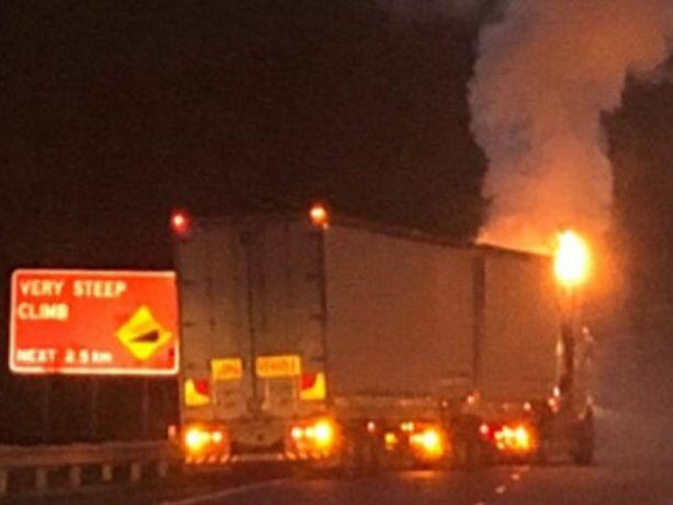 Truck fire on Toowoomba Range, Saturday November 11