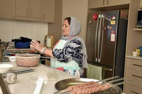 Preparing the food, Golmah. Celebrating family and food with the Aria family an Afghani family who arrived in Toowoomba 4 years ago. November 2017