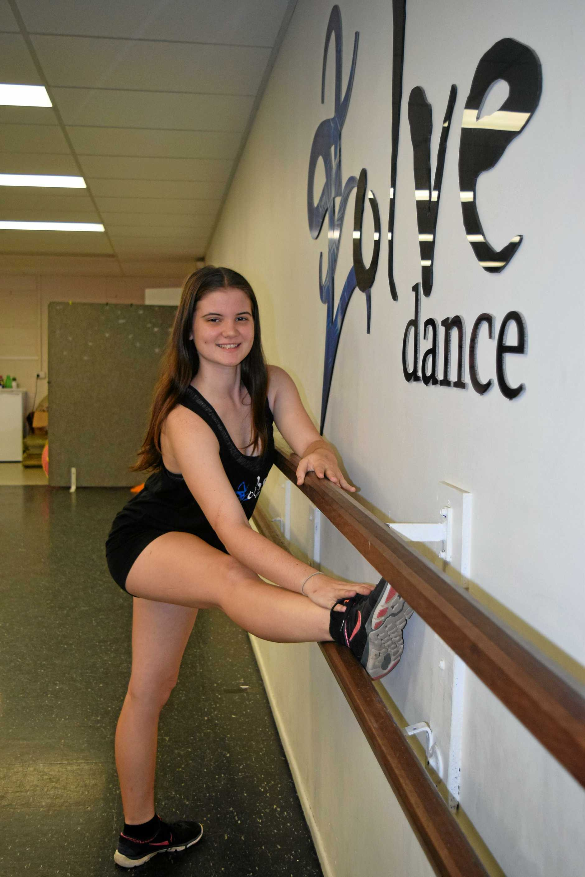 TALENTED: Evolve Dance Studio student Abbey Murray will be stretching her talents at Lee Academy in Sydney next year.