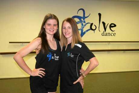 TALENTED: Evolve Dance Studio student Abbey Murray (left) with teacher Kyra-Lee Bonnici.