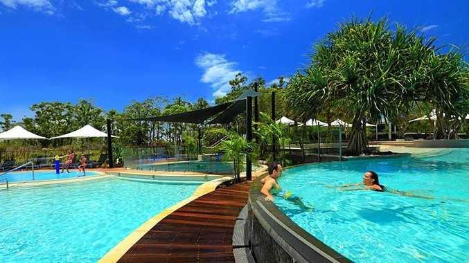 RACV Noosa Resort - lagoon pools.