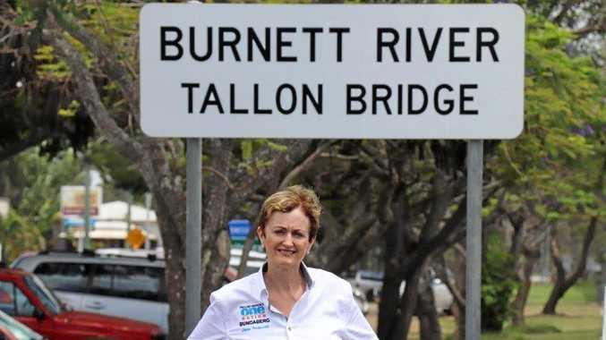 BOOM: Bundaberg One Nation candidate Dr Jane Truscott has promised $100 million for flood mitigation.