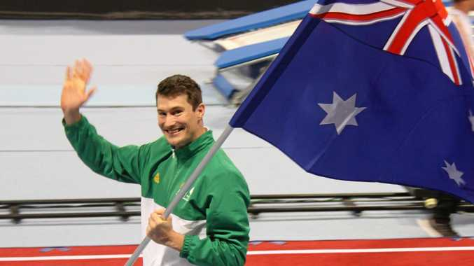 AMAZING HONOUR: Rockhampton's Jarrod Spear was the flag bearer for Australia in the opening ceremony.