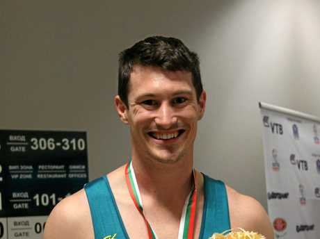 Jarrod Spear with his bronze medal.