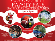 Community event for the whole family, come along for an afternoon of fun and entertainment. Live band, Blue Light Disco at 4.00 p.m . Santa will arrive at 7.30