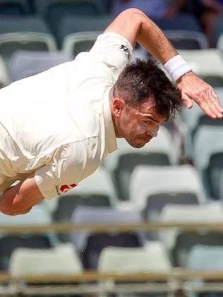 Jimmy Anderson is bowling as well as ever. Picture: AFP