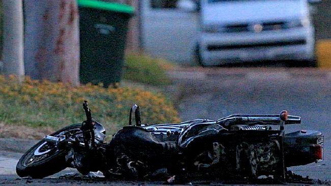Tommy Merrall has fronted court over the crime rampage that claimed the life of motorcyclist Keith Stevens. Picture: Mark Stewart