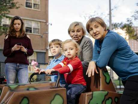 Natalia Nikulina is a single mother who is helped by three nannies. Picture: Stefano Giovannini