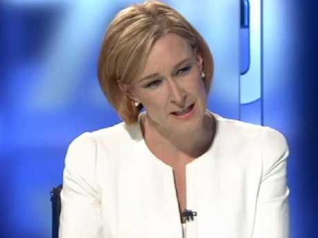 The speculation is that Aly would love the plum role of the ABC's much-loved 7.30 host, Leigh Sales (above). Picture: ABC-TV.