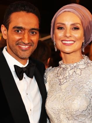 Waleed Aly and wife Susan Carland. Picture: Jonathan Di Maggio.