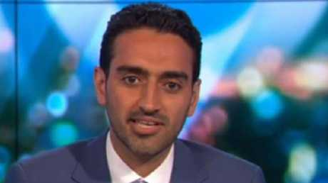Report say Waleed Aly is 'over' The Project and is eyeing off the ABC job of 7.30 anchor Leigh Sales. Picture: Channel Ten.