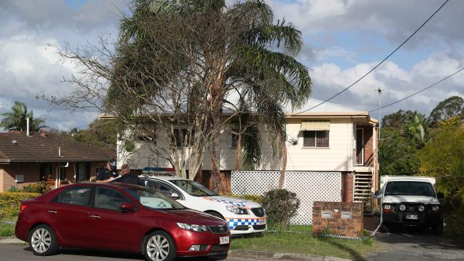 Police at a house in Capalaba where a little girl was allegedly raped.