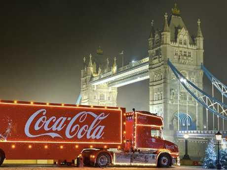 The Coca-Cola Christmas Truck is famous overseas in the UK. Picture: Supplied