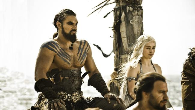 Game of Thrones couples: Daenerys and Khal Drogo. Picture: Supplied