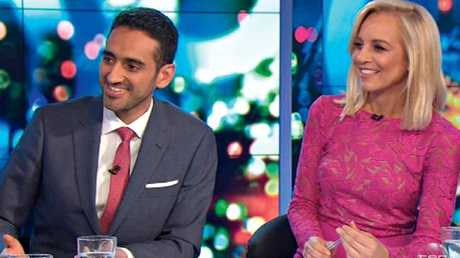 Waleed Aly, above on The Project with co-host, Carrie Bickmore, is in talks with the ABC about a future role.
